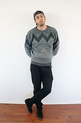 """Charlie Brown"" Geometric Sweater - Mens M"