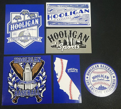 Hooligan Baseball Sticker Pack