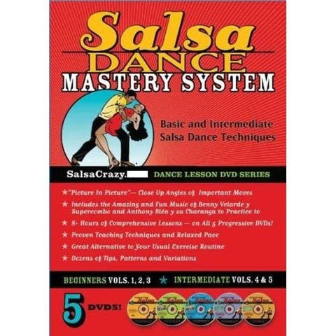 Salsa Dance Mastery System, 5 DVD's!
