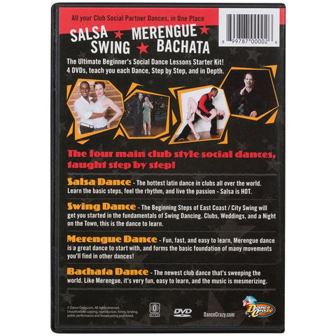 Dance Lessons Starter Kit- (4 DVDs)