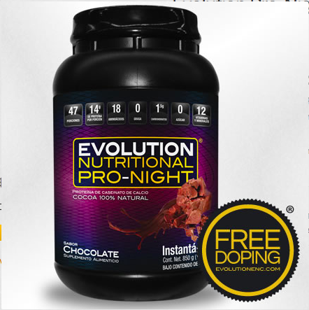 2 botes de Evolution Pro-Night, Bote 850g Chocolate