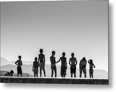 Split Kids On The Dock - Metal Print