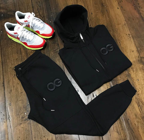 OG SWEATSUIT BLACK (JACKET & JOGGERS)