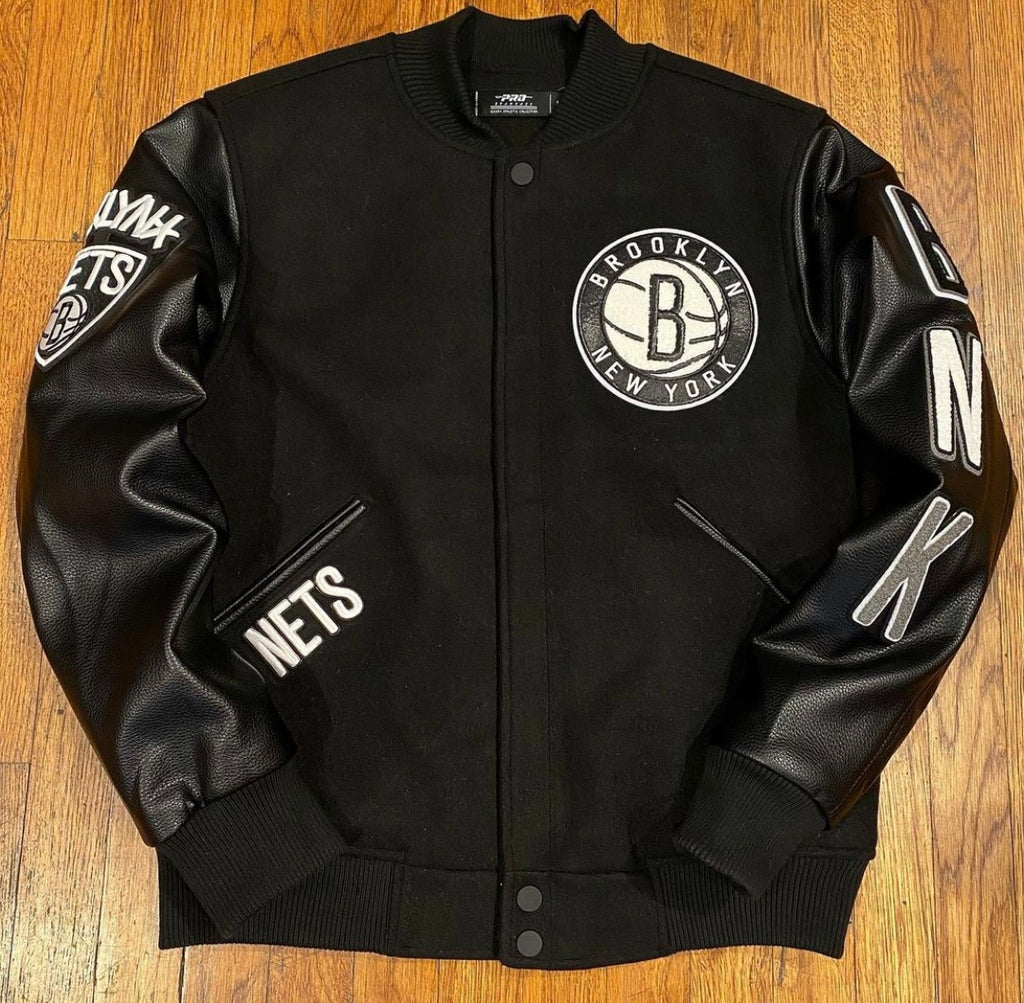 BROOKLYN NETS EMBROIDERED JACKET