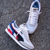 PUMA SNEAKERS WHITE BLUE RED GREY