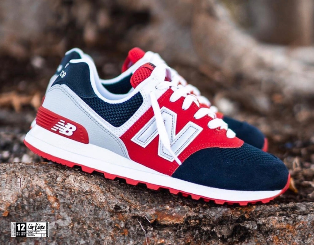 NEW BALANCE ORGINIAL RED BLUE GREY