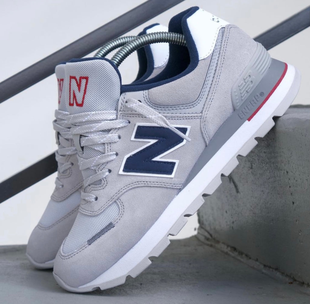 NEW BALANCE GREY BLUE WHITE
