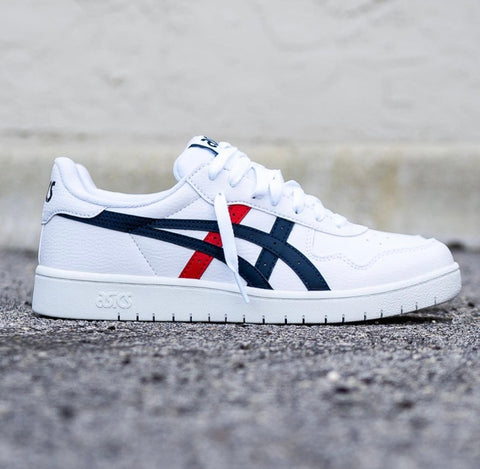 ASICS CLASSIC LOW WHITE BLUE RED