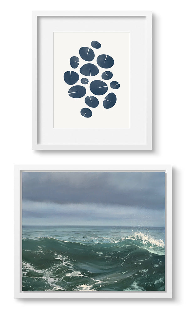 Art pairing: A painting and a print.