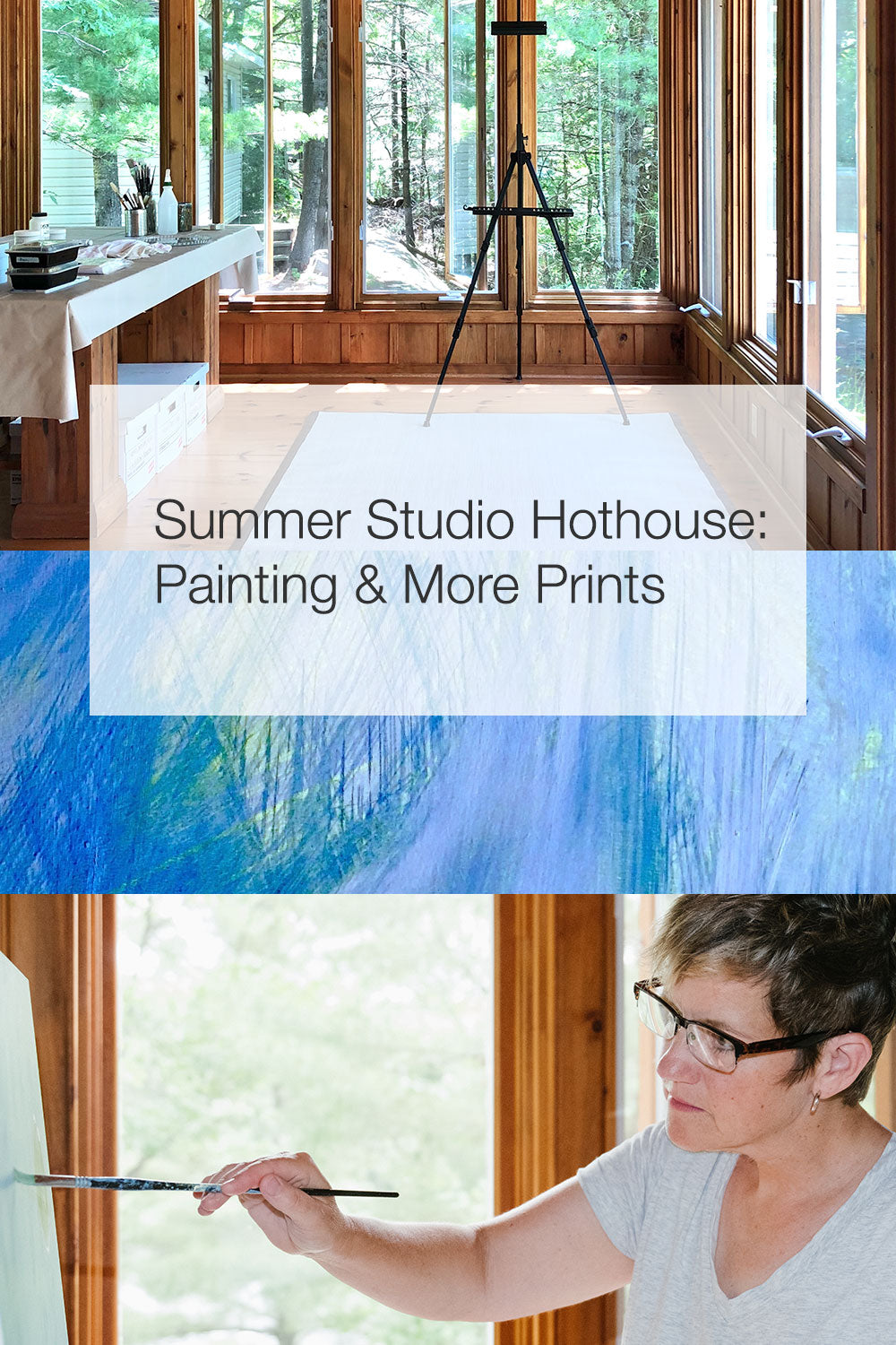 Summer studio, and Janet Taylor painting.