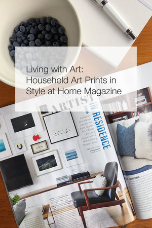 Living with Art: Household Art Prints in Style at Home Magazine