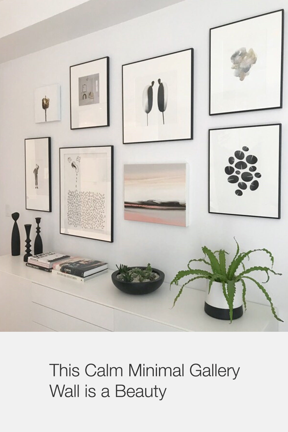 Calm Gallery Wall with Dance Graphic by Household Art | janet Taylor