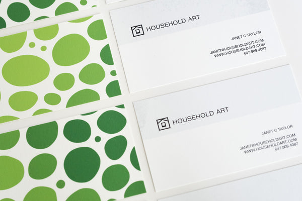 Waste Not: My New Art-Paper Printed Business Cards