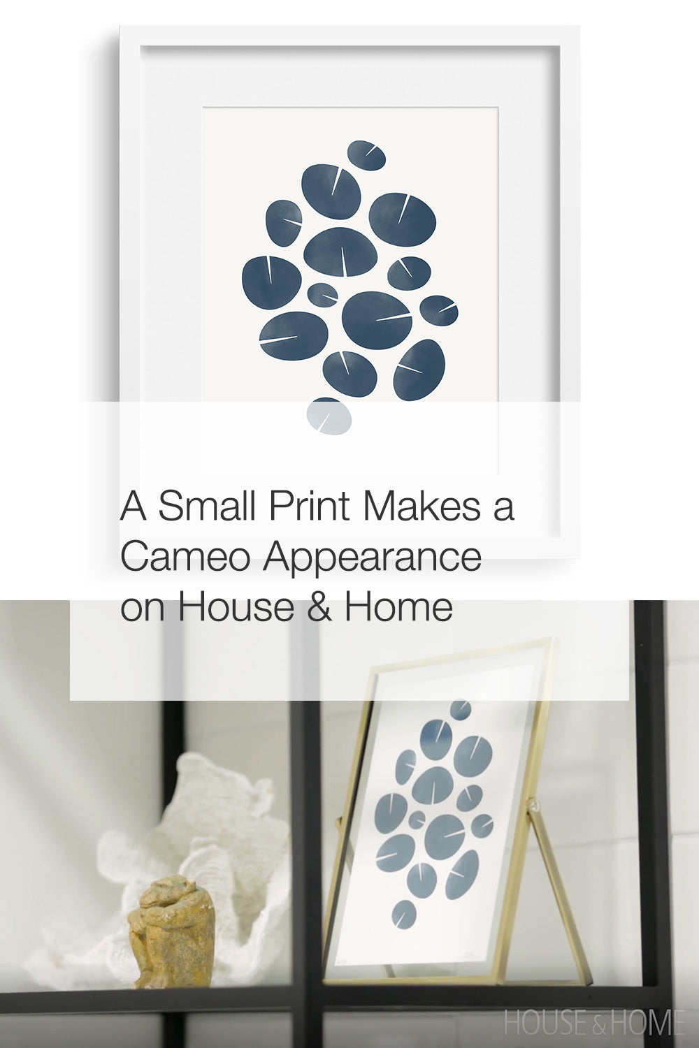 A Small Print Makes a Cameo Appearance on House & Home
