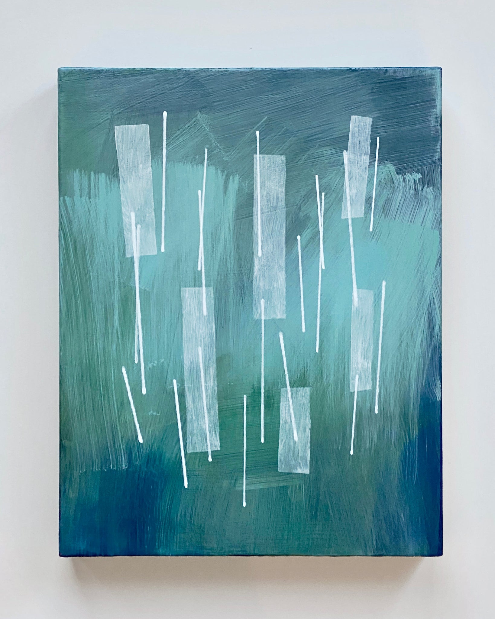 Squall III, commissioned acrylic on panel painting by Janet Taylor.