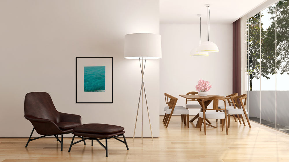'Wave' fine art print looks great having in a living room.
