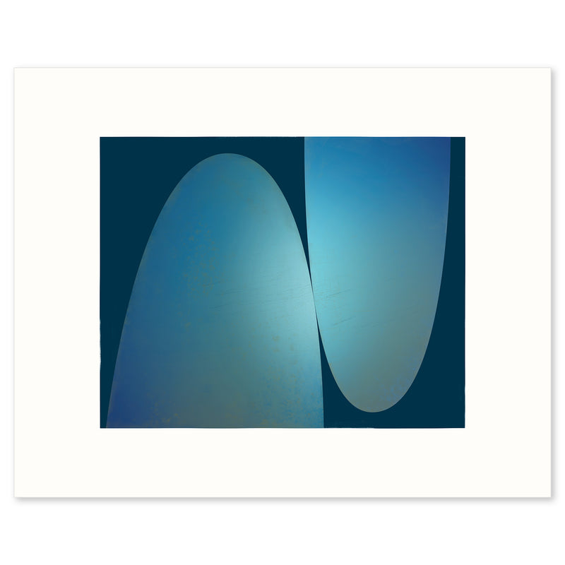 Black framed print of A Glance in the Night, a modern abstract print by Janet Taylor.