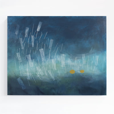 A Storm Rose Overnight | Abstract Painting by Janet Taylor | Household Art.