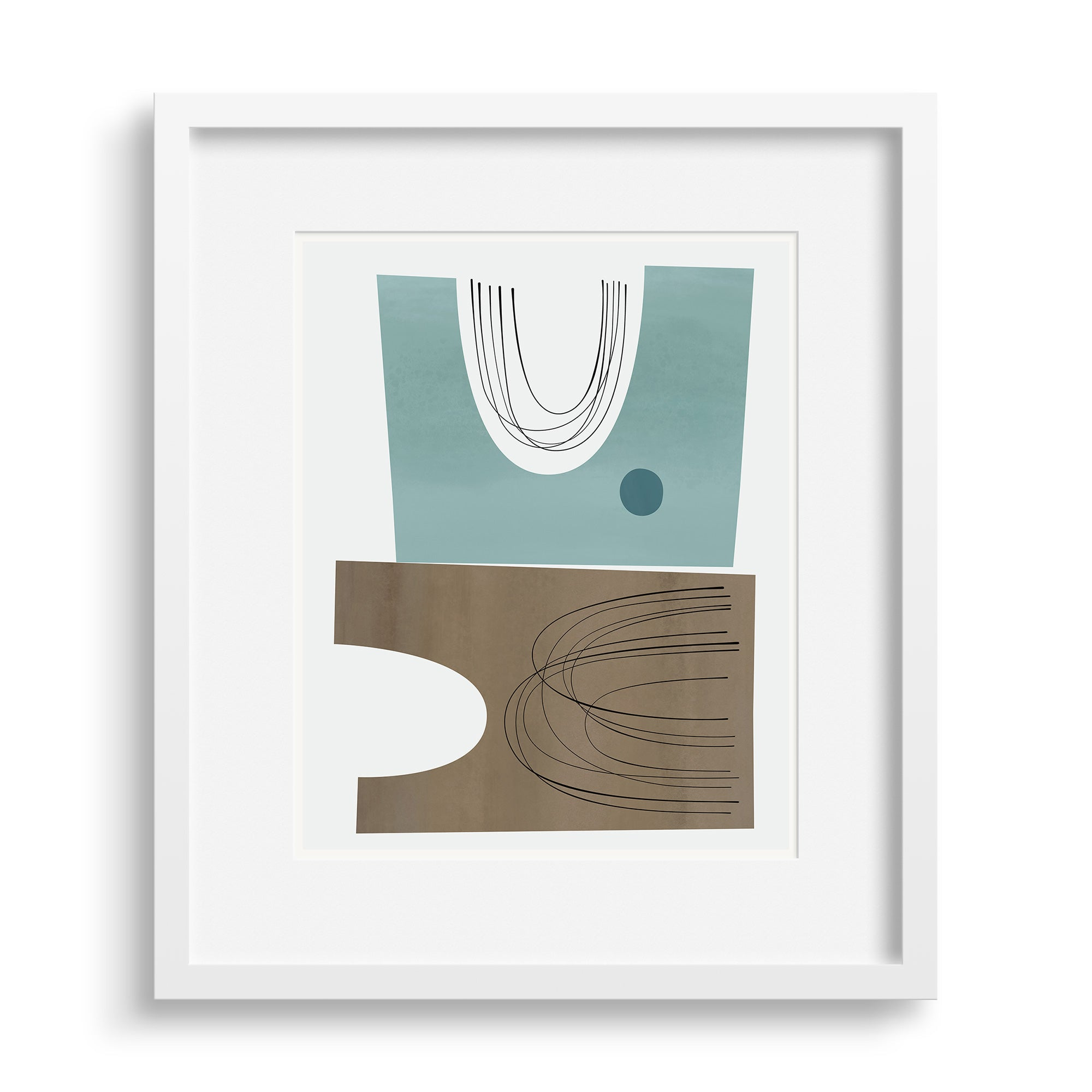 All The Things print by Janet Taylor in a white frame.