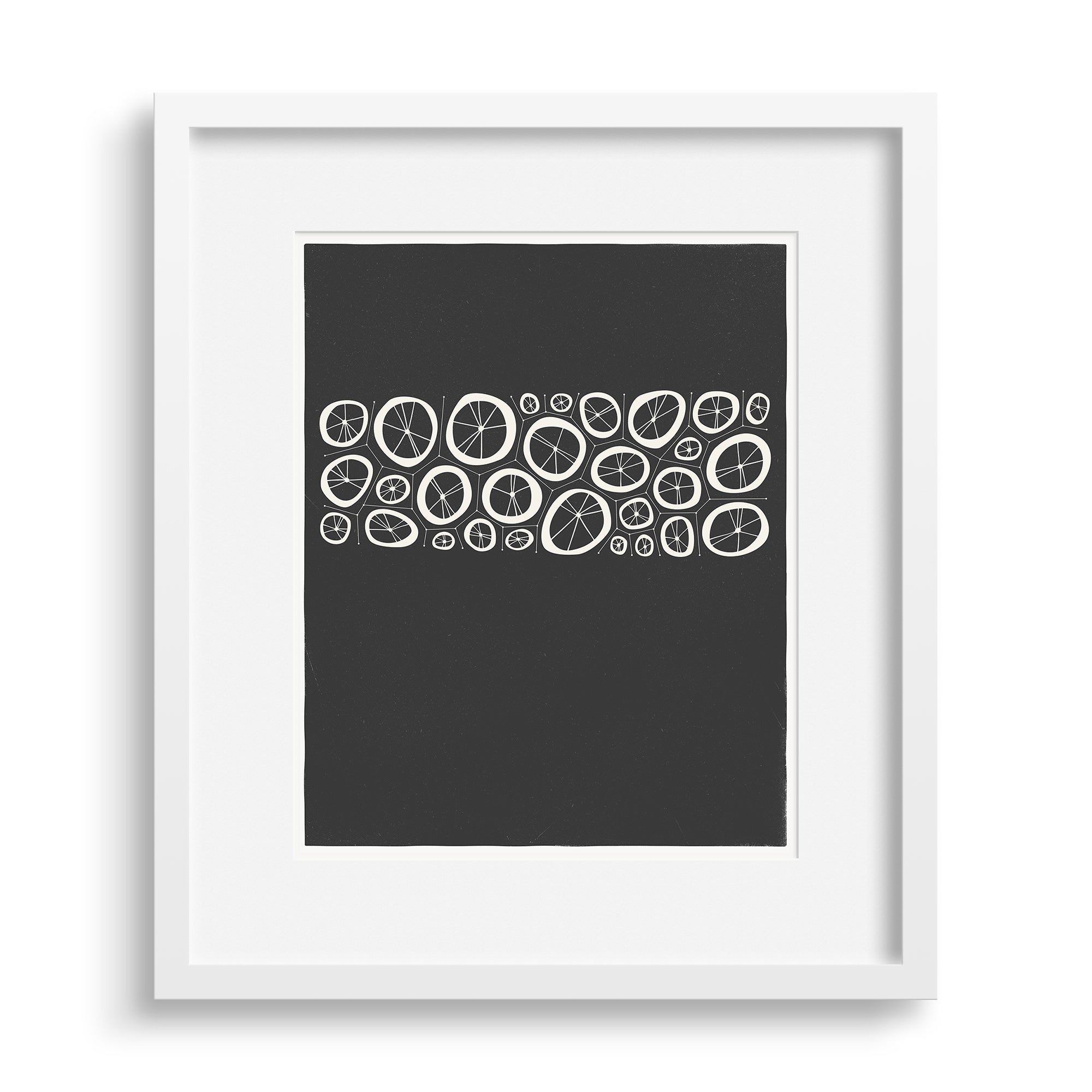 White framed version of Black Coral Limited Edition Print, by Janet Taylor | Household Art..