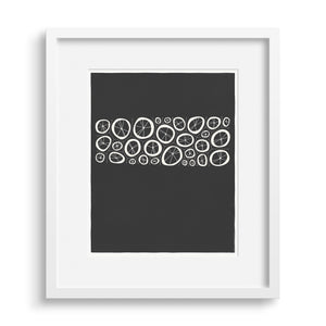 White framed version of Black Coral Limited Edition Print.