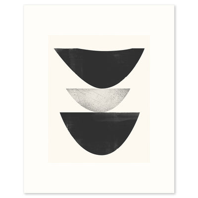 Cold Wave Graphic, a black + white print from the Ice+Fire series by Janet Taylor | Household Art.