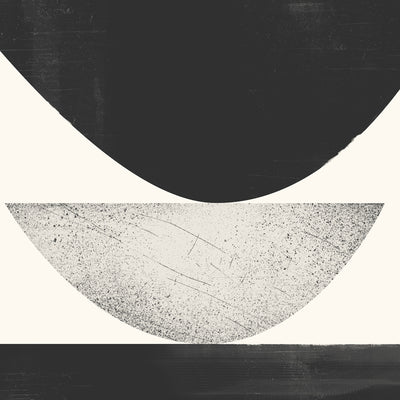 Detail of Cold Wave Graphic, a black + white print from the Ice+Fire series by Janet Taylor | Household Art.