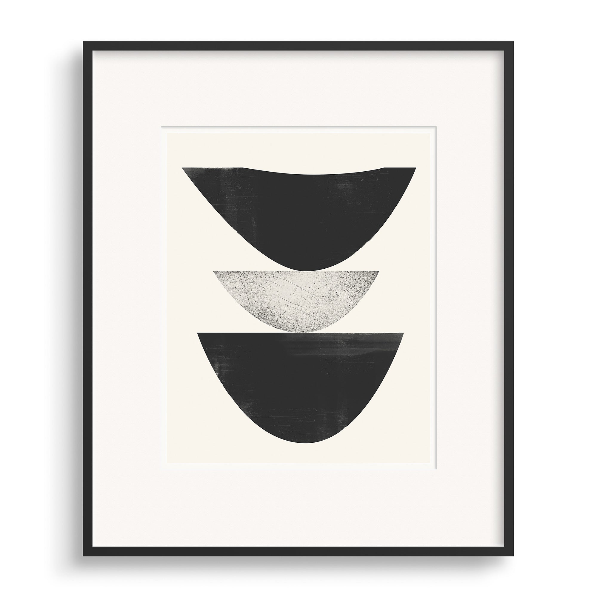 Black framed image of Cold Wave Graphic Print by Janet Taylor | Household Art.
