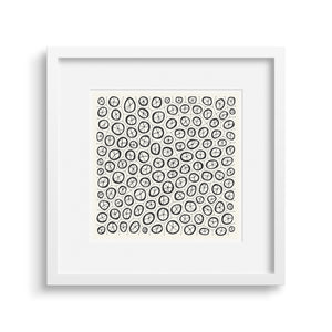 White framed version of Coral Graphic Fine Art Print.