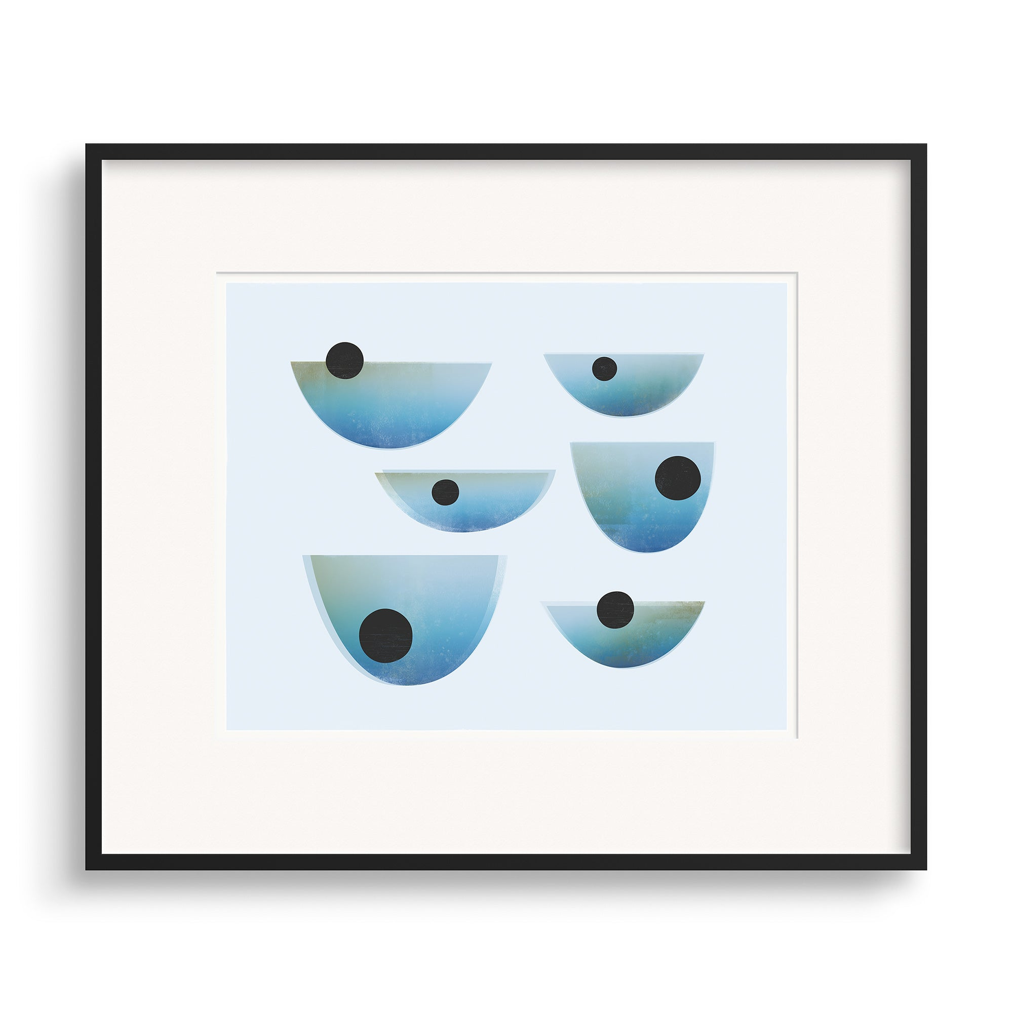 Black framed image of Drift Print by Janet Taylor | Household Art.