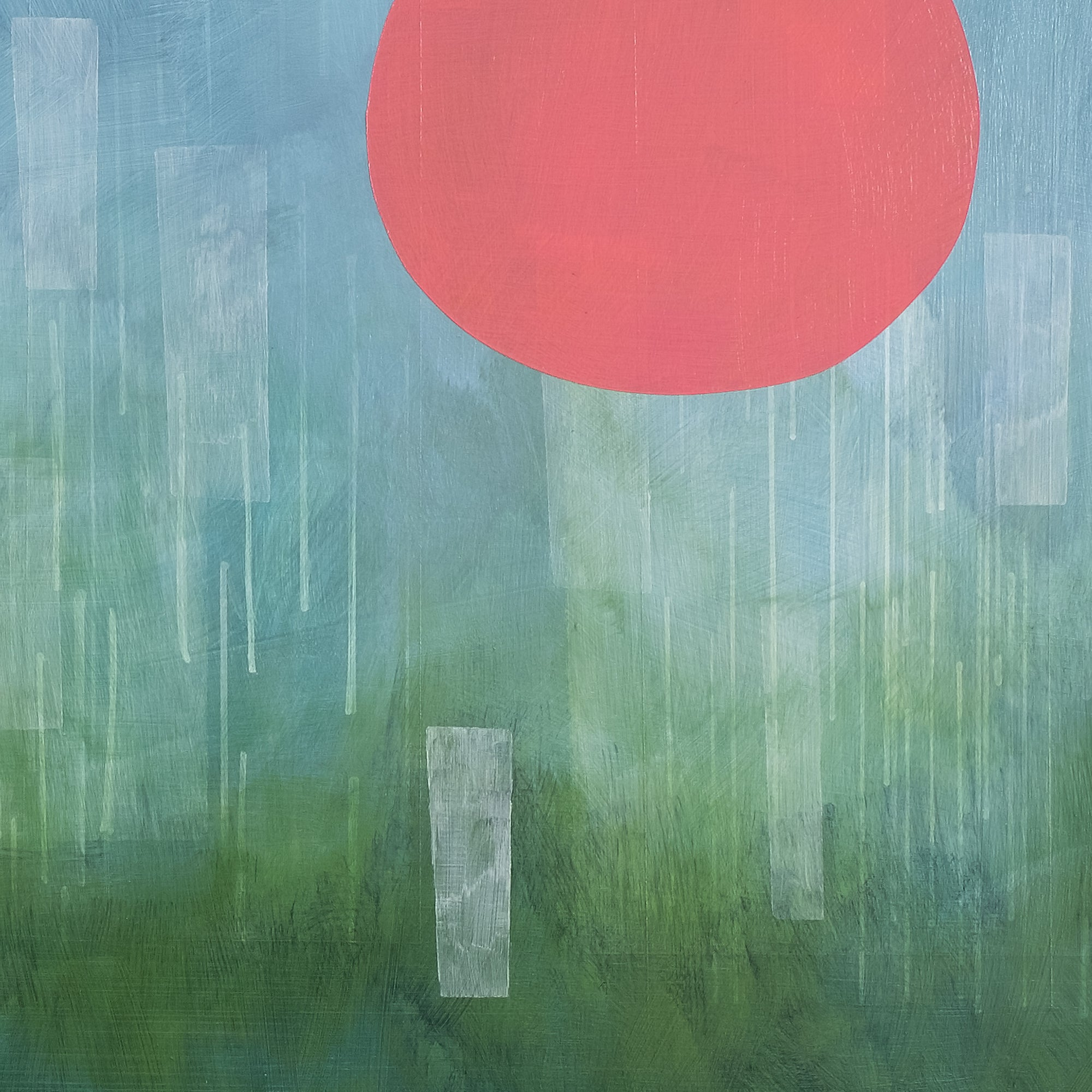 Modern abstract painting 'Early Morning Rain' by Janet Taylor | Household Art.