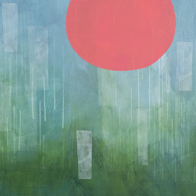 Detail of modern abstract painting 'Early Morning Rain' by Janet Taylor | Household Art.