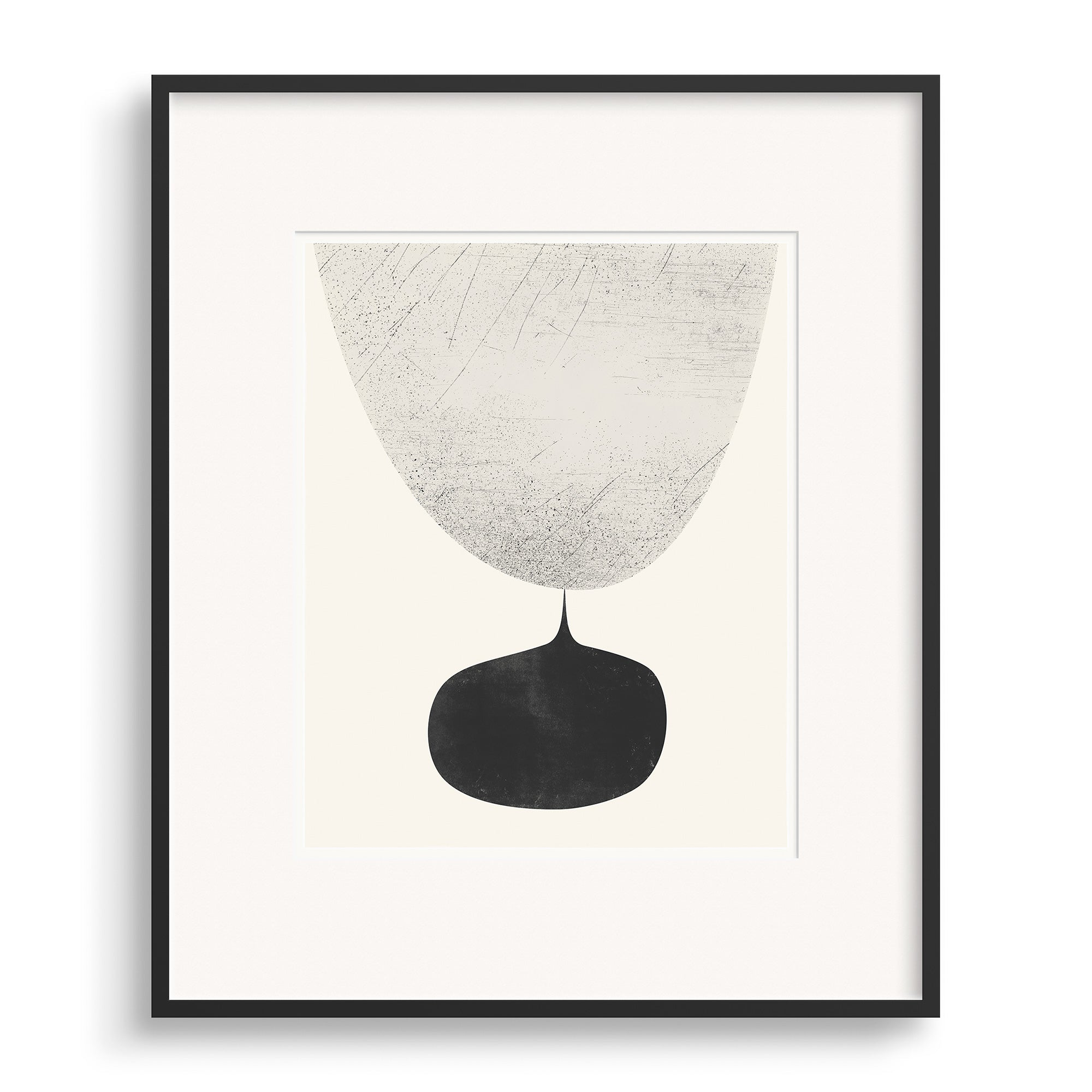 Black framed image of Flow Graphic Print by Janet Taylor | Household Art.