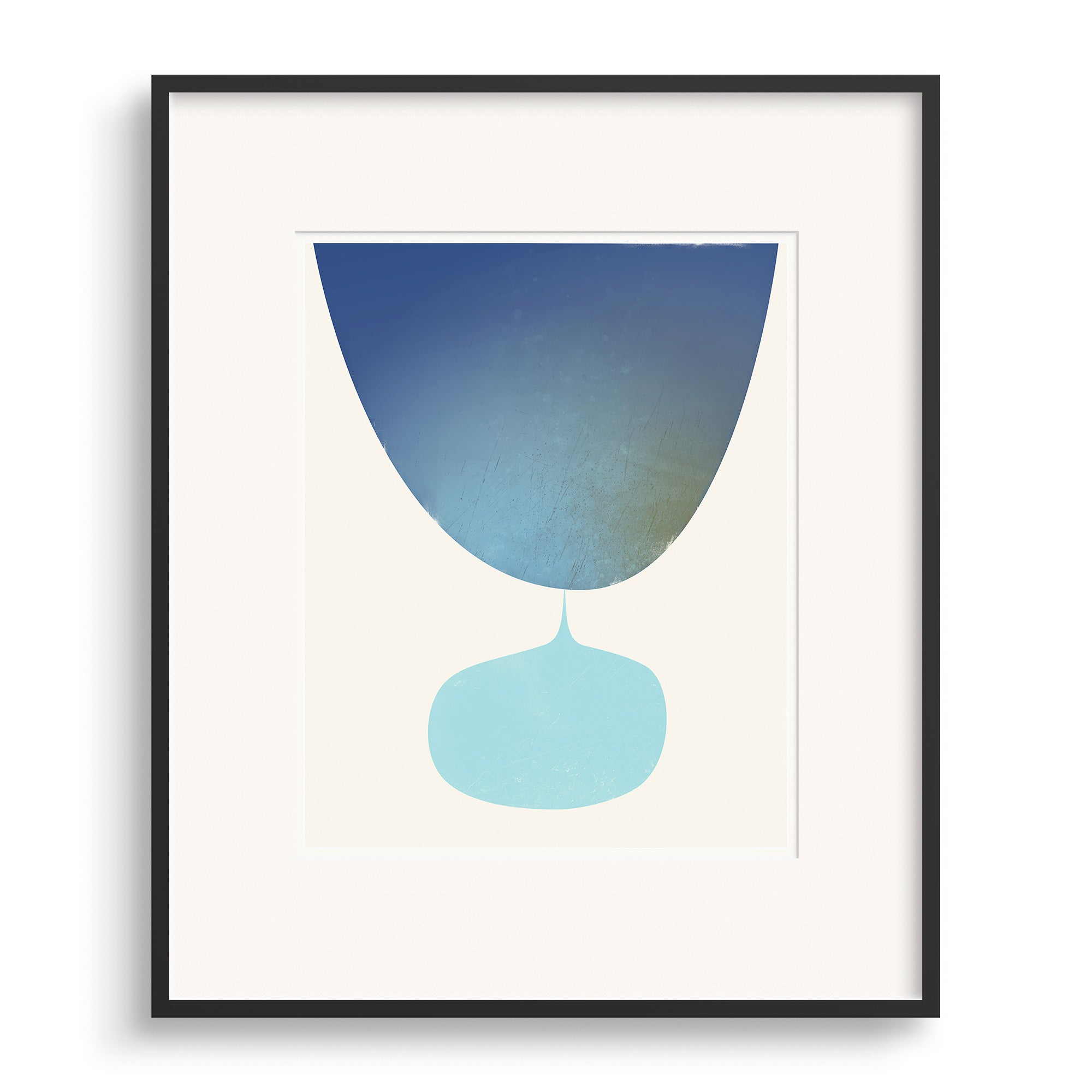 Black framed image of Flow Print by Janet Taylor | Household Art.