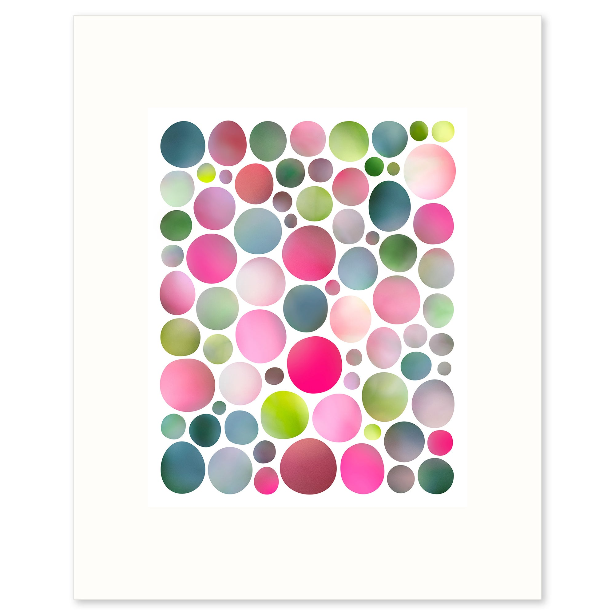 "Colourful abstract graphic limited edition fine art print 'In the Garden"", by Janet Taylor 