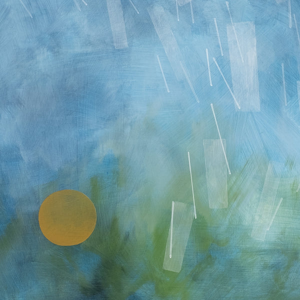 Detail of 'Learning to Dance in the Rain', a modern abstract painting by Janet Taylor | Household Art.