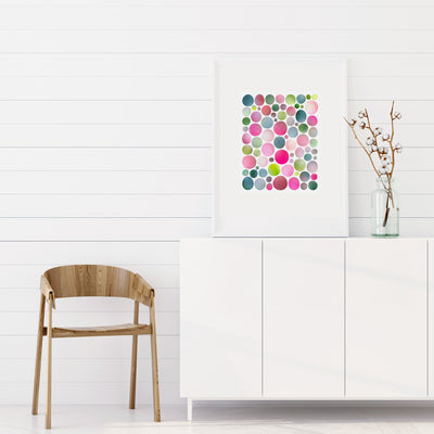 A limited edition print by Janet Taylor | Household Art adds a hit of color and vibrance.
