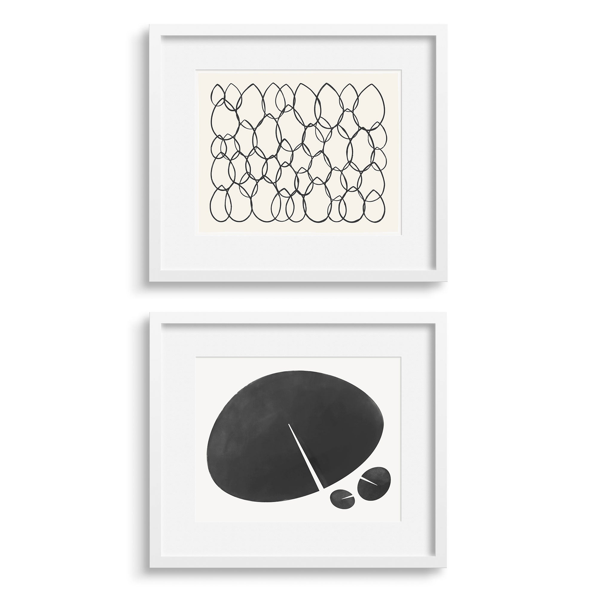 Glory Graphic and Lily Leaf Graphic modern graphic prints by Janet Taylor / Household Art.