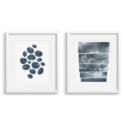 Dance Graphic Blue and Portent, a pair of fine art prints by Janet Taylor / Household Art.