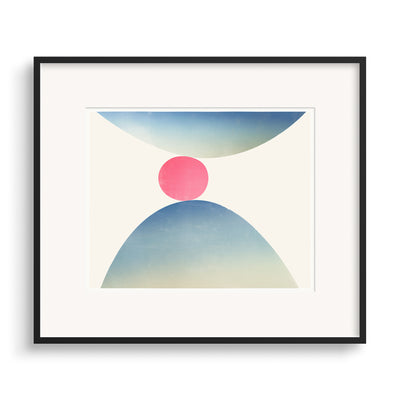 Black framed print of Spring, a modern graphic fine art print by Janet Taylor.