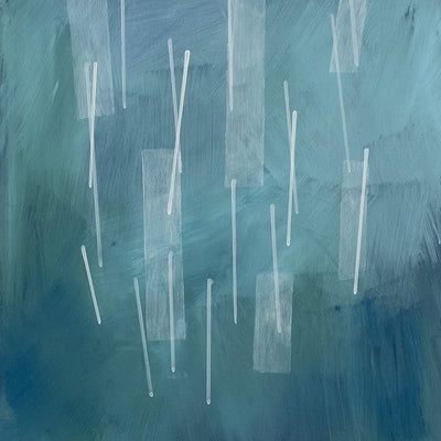 "Detail of Squall I, an abstract acrylic painting by Janet Taylor | Household Art. 8x10"", Acrylic' on Panel."