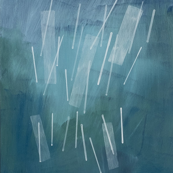 "Detail of Squall II, an abstract acrylic painting by Janet Taylor | Household Art. 8x10"", Acrylic' on Panel."