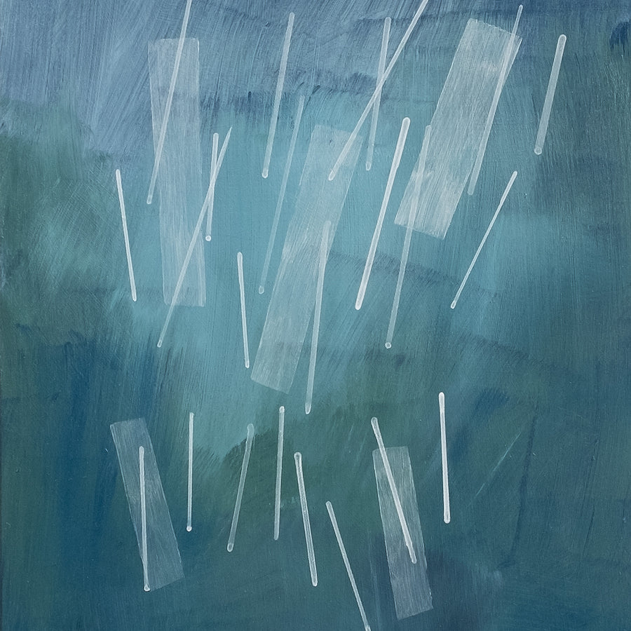 "Squall II, an abstract acrylic painting by Janet Taylor | Household Art. 8x10"", Acrylic' on Panel."