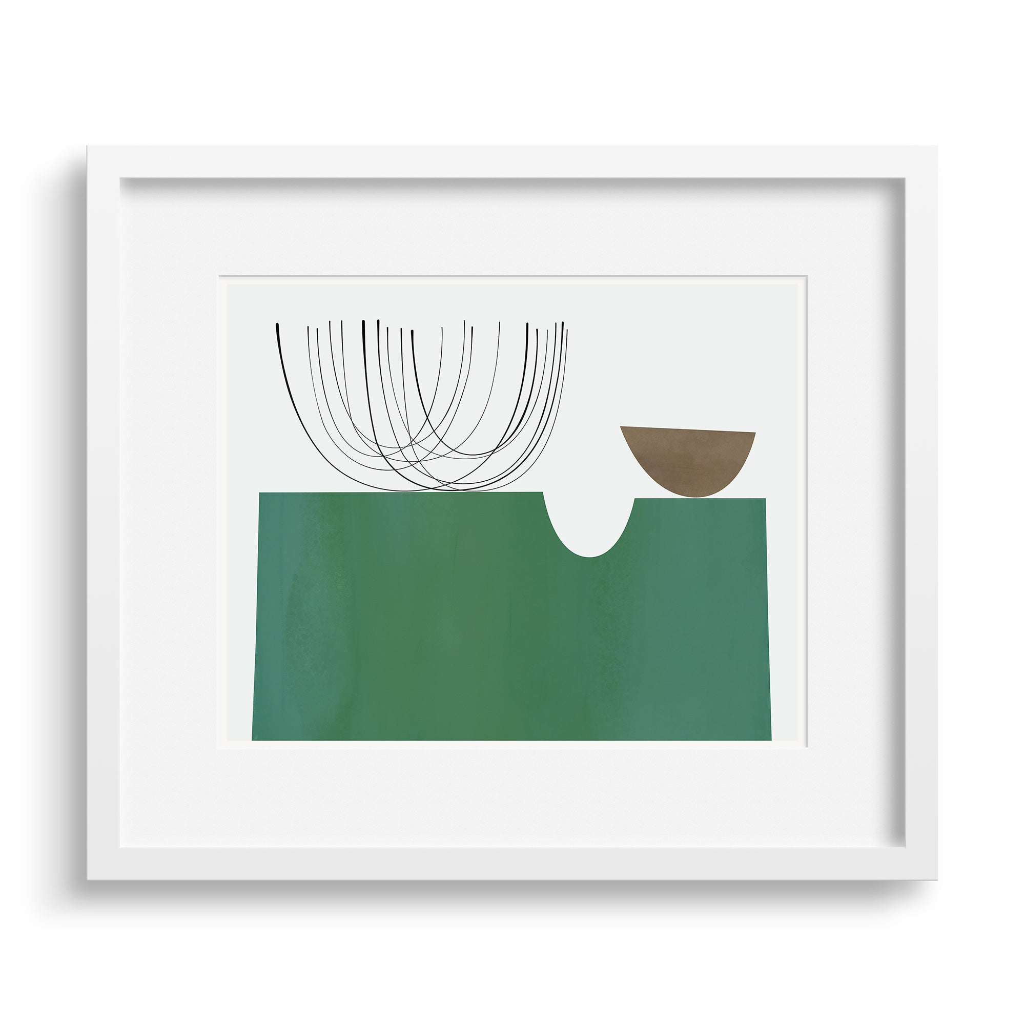 Walled Garden print by Janet Taylor in a white frame.