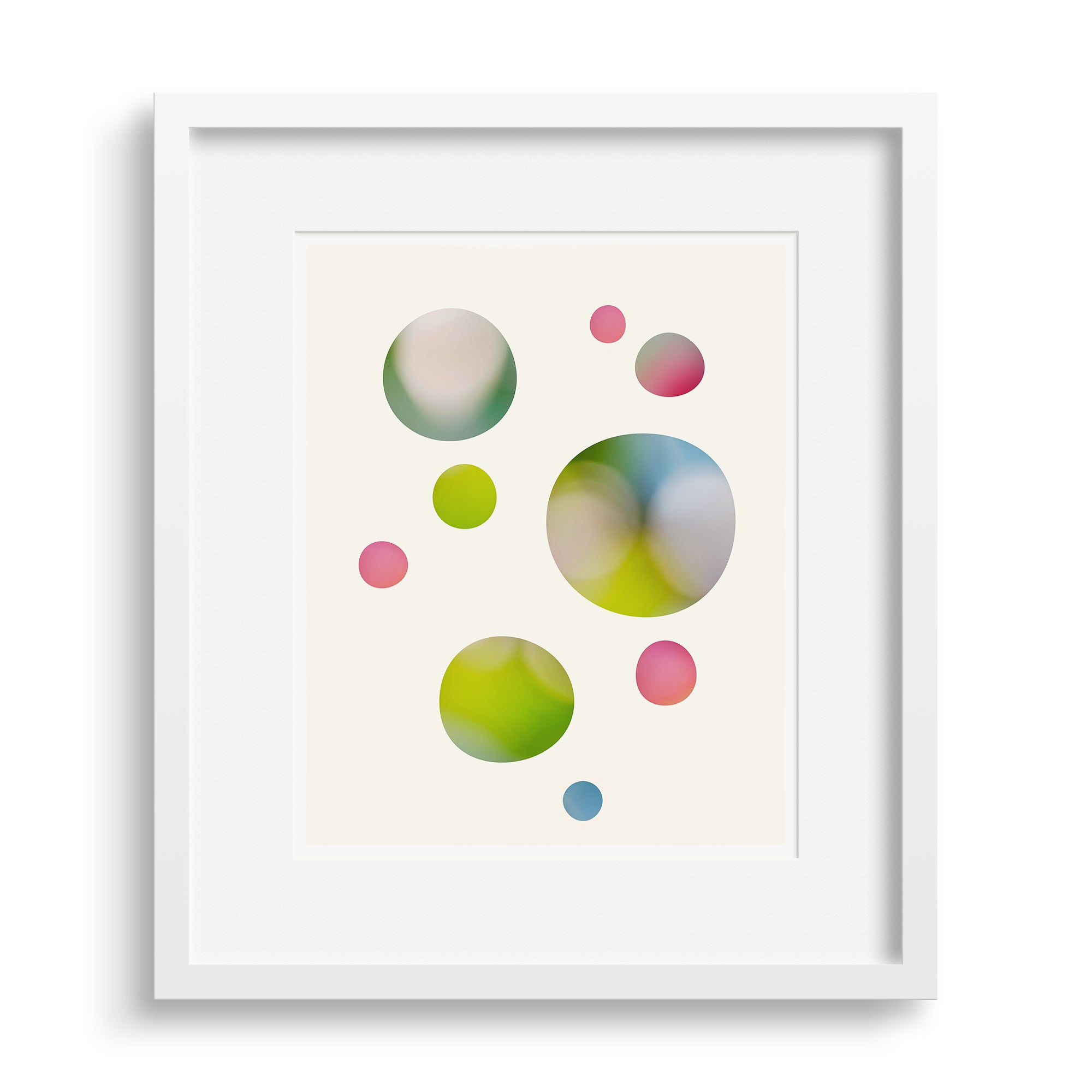 White framed version of 'We Were Dreaming', a limited edition fine art print by Janet Taylor | Household Art.