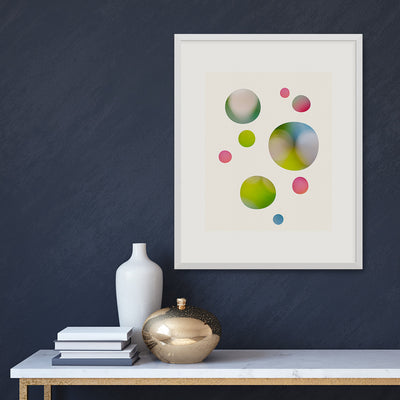 We Were Dreaming fine art print in a light frame on a dark wall, by Janet Taylor | household Art.