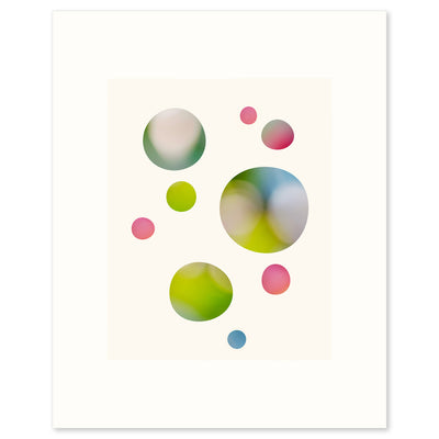 Unframed version of 'We Were Dreaming', an abstract modern graphic limited edition fine art print by Janet Taylor | Household Art.