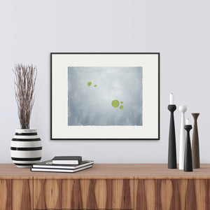 Apart, a fine art print of Waterlilies. Limited Edition Archival.