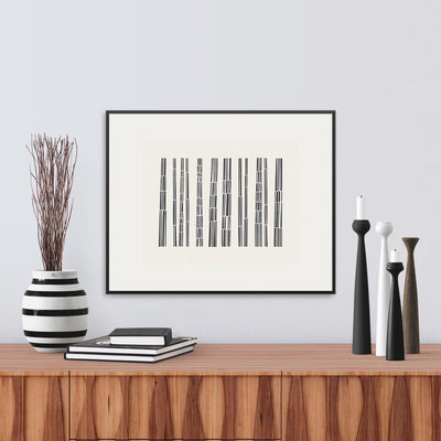 Framed View of Bark Song Graphic Limited Edition Print, by Janet Taylor | Household Art..