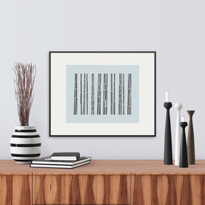 Framed View of Bark Song Ice Fine Art Print.